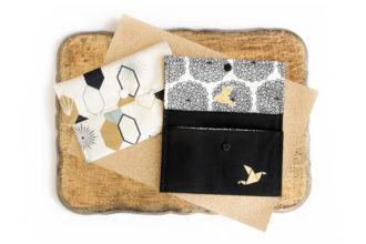 Origamipouch aus Bio Canvas Stoffen von Birch Fabrics