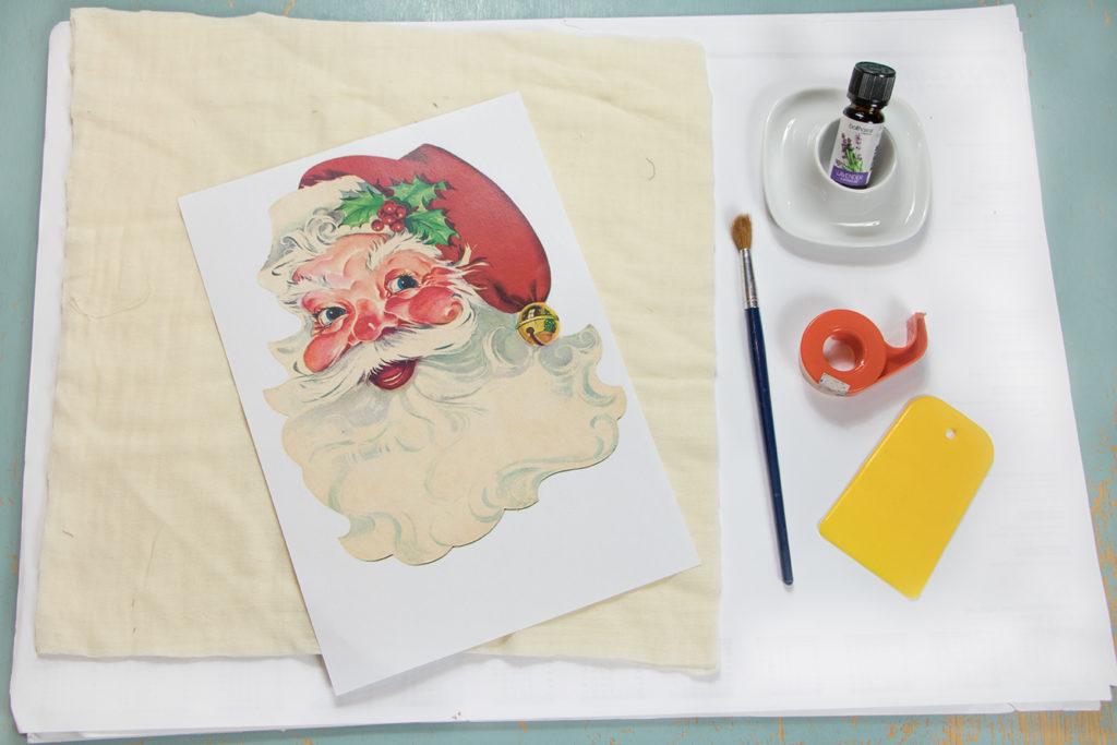 Materialien und Anleitung für Lavendeldruck