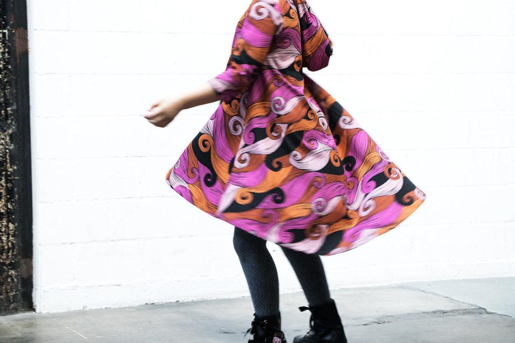 Groove Dress Big Pink Waves