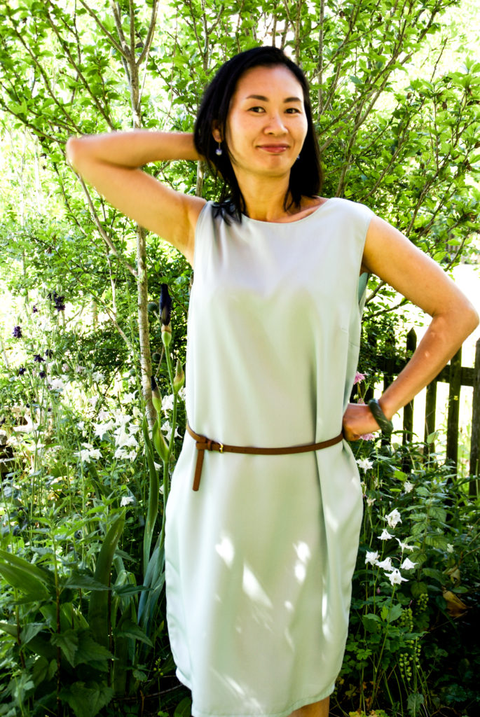 Selbstgenähtes Sommerkleid aus Re-Woven Refibra Tencel