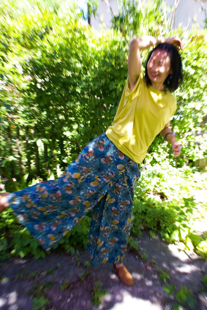 Die Sommerhose genäht im japanischen Oversize Stil