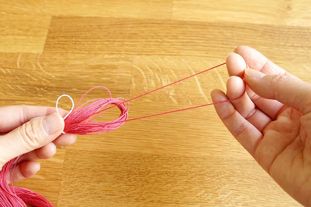Sashiko Garn verwenden
